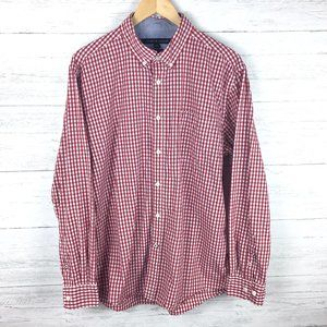 Tommy Hilfiger Men's Red White Gingham Check Shirt